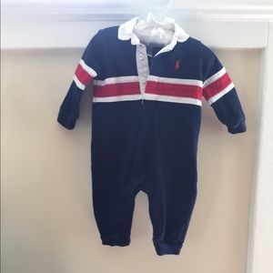  Ralph Lauren Striped Cotton Rugby Coverall